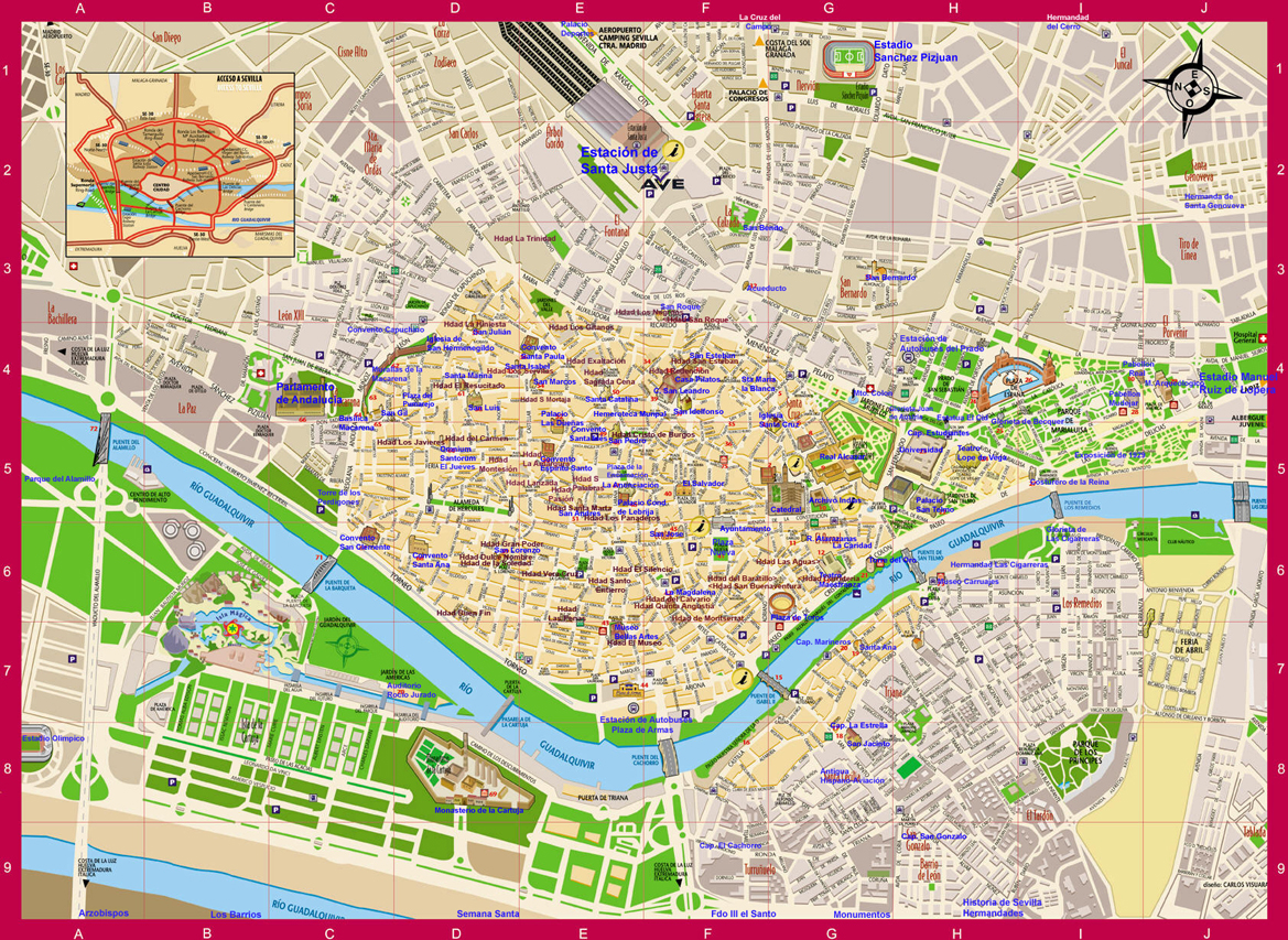 mapa sevilha pdf Map   Aleman Para Turistas Mapa mapa sevilha pdf